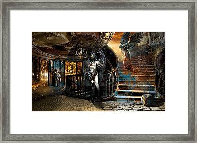 Stairway To Heaven Vs. Stairwell To Hell Framed Print by George Grie