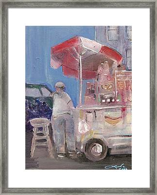 Stand On The Corner Framed Print