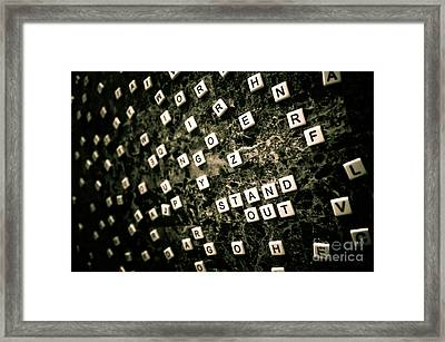 Stand Out Framed Print by Liesl Marelli
