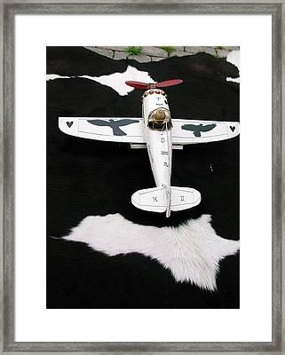 Star White Feather Plain Worldwide Travels Framed Print