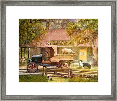 Stay Right There  Framed Print by Trudi Simmonds
