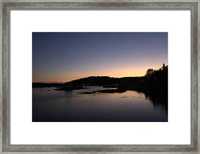 Stonington Sunset Framed Print