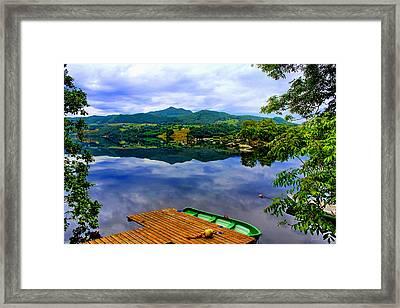 Stunning Mirror Lake By Julia Fine Art Framed Print