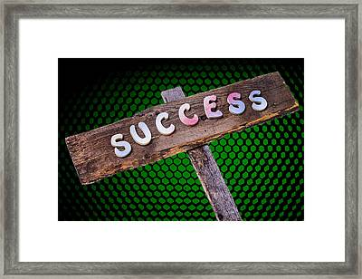 Success Sign Post Framed Print by Donald  Erickson