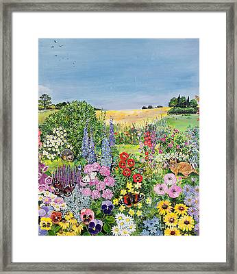 Summer From The Four Seasons Framed Print by Hilary Jones