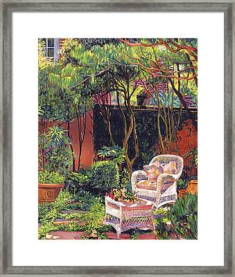 Sunny Summer Patio Framed Print