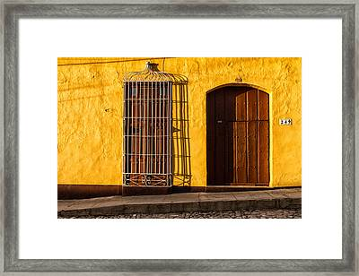 Sunny Yellow Wall Framed Print