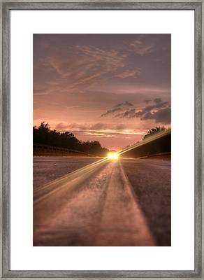 Sunset High Beams 2 Framed Print by David Paul Murray