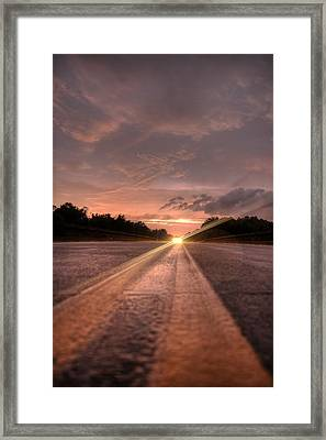 Sunset High Beams Framed Print by David Paul Murray