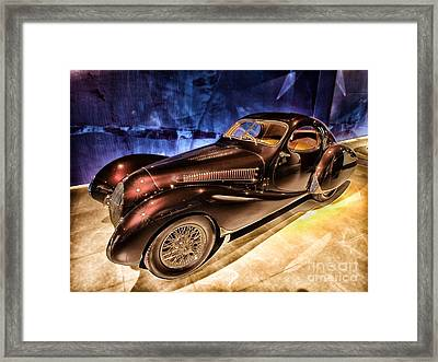 Talbot Lago 1937 Car Automobile Hdr Vehicle  Framed Print by Paul Fearn