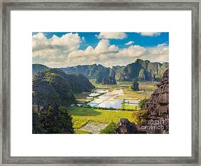Tam Coc National Park Framed Print