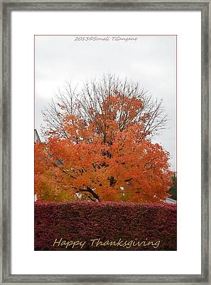 Thanksgiving Greetings Framed Print