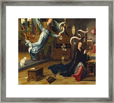 The Annunciation Framed Print by Jan de Beer
