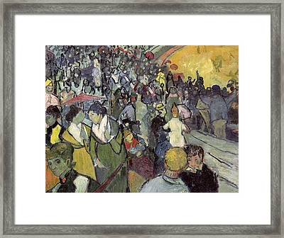 The Arena At Arles Framed Print by Vincent van Gogh