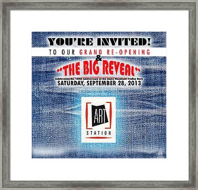 The Big Reveal Framed Print