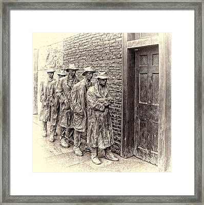 The Bread Line Sculpture Framed Print