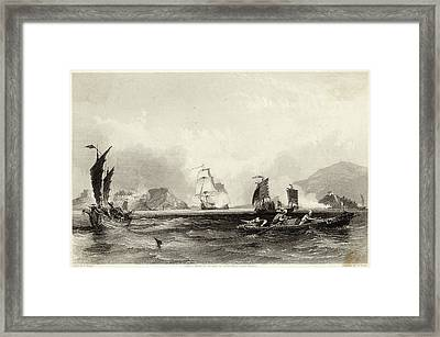 The British Fleet Forces A  Passage Framed Print by Mary Evans Picture Library
