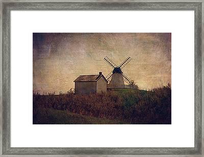 The Bruderheim Windmill  Framed Print by Maria Angelica Maira