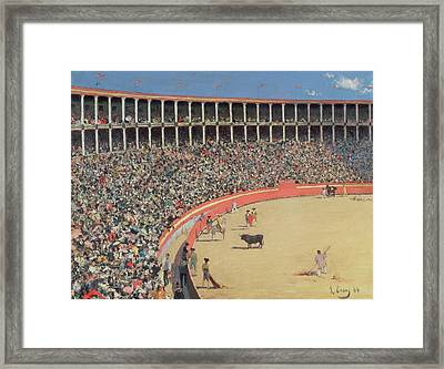 The Bullfight Framed Print by Ramon Casas i Carbo