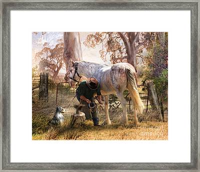 The Bushmans Forge Framed Print