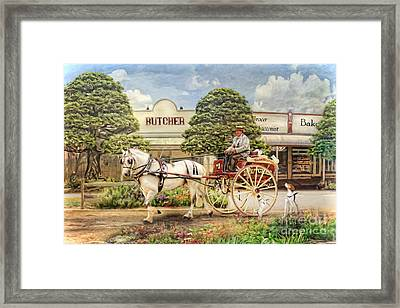 The Butchers Cart Framed Print by Trudi Simmonds