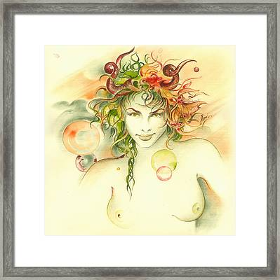 The Capricorn Framed Print by Anna Ewa Miarczynska