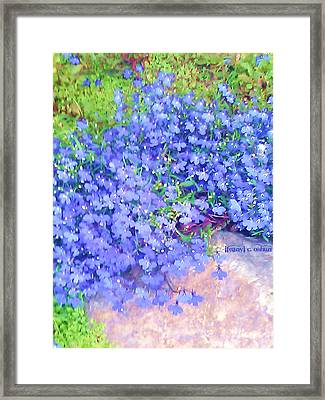 The Color Purple Revisited Framed Print by Ifeanyi C Oshun