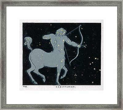 The Constellation Of  Sagittarius Framed Print by Mary Evans Picture Library