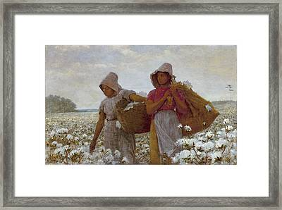 The Cotton Pickers Framed Print by Celestial Images