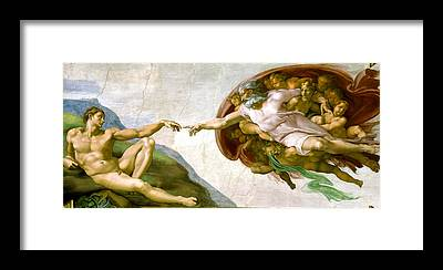 The Creation Of Adam Framed Prints
