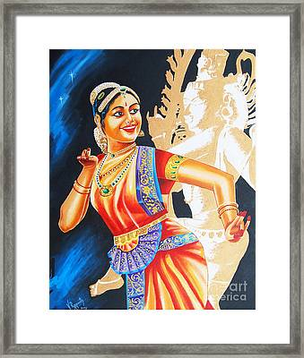Framed Print featuring the painting  The Dance Divine by Ragunath Venkatraman