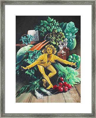 The Dancing Lemon Framed Print