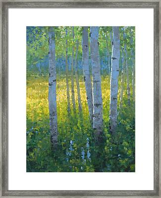 The Dancing Sun Framed Print