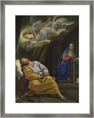 The Dream Of Saint Joseph Framed Print by Philippe de Champaigne