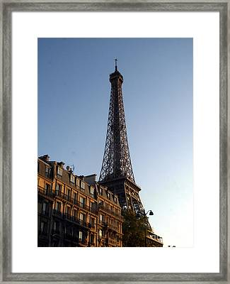 The Eiffel Tower Framed Print by Mariana Costa Weldon