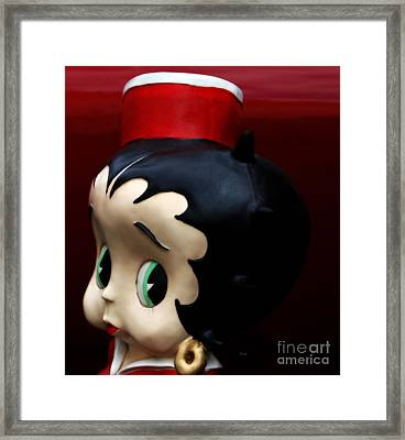 The Eminent And Beautiful - The Sassy Ms. Betty Boop Framed Print