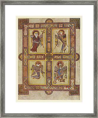 The Evangelical Symbols         Date Framed Print by Mary Evans Picture Library