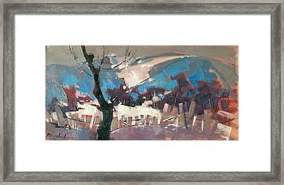 The First Snow. Framed Print by Anastasija Kraineva