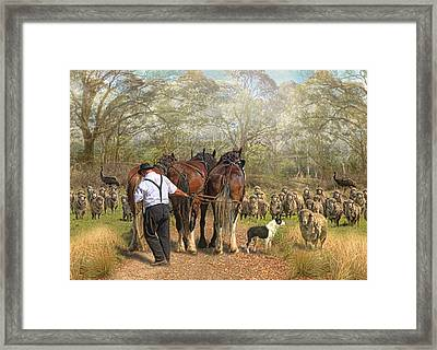 The Greeting Framed Print by Trudi Simmonds