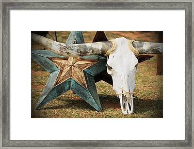 The Heart Of Texas Framed Print