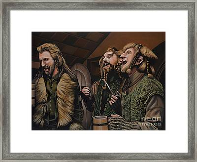 The Hobbit And The Dwarves Framed Print by Paul Meijering