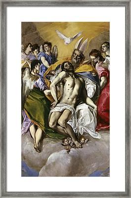 The Holy Trinity Framed Print by El Greco