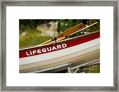 The Lifeguard Boat Framed Print