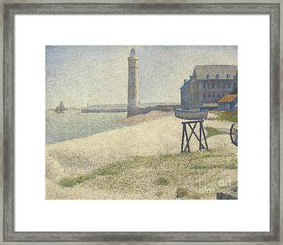 The Lighthouse At Honfleur Framed Print