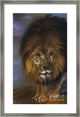 The Lion King Framed Print by Andrzej Szczerski