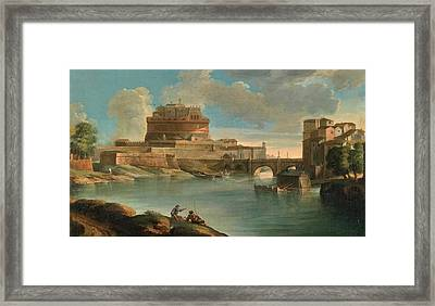 The Mill Is On The Left Bank Framed Print