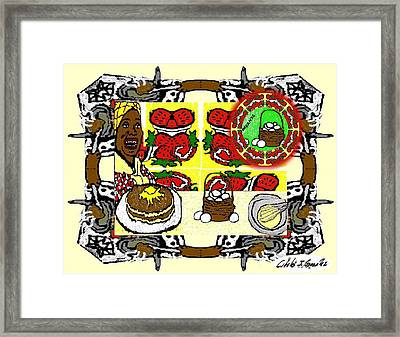 The Organic Twin Sister Of Jemima Framed Print