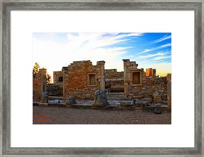 The Palaestra - Kourion-apollon Framed Print