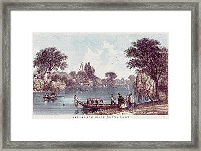 The Picturesque Boating Lake Framed Print