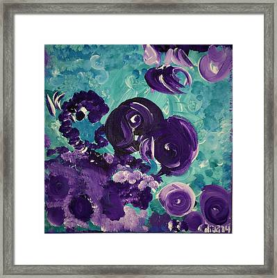 The Purps At The Badger Stop Framed Print